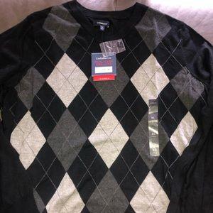 Argyle sweater NWT